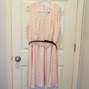 NWT Elle sleeveless dress with belt NWT